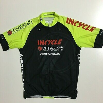 c5f0e1a00 Sugoi Mens XL Yellow Black Cannondale Fullzip Cycling Jersey short Sleeve