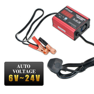 Maso 6A 3A 140W 6V 12V 24V Car Van Lorry Smart Battery Charger 200Ah 74595 New