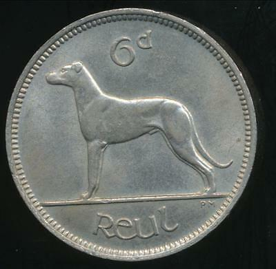 Ireland Republic, 1947 6 Pence - Uncirculated