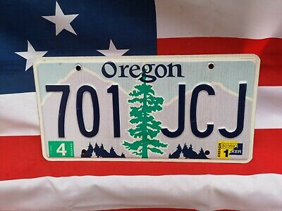 Plaque d'immatriculation Oregon 701-JCJ USA US License Plate