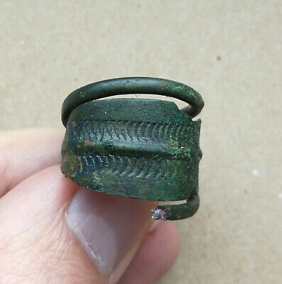 9th - 10th century A.D. Ancient Scandinavian Viking Bronze Spiral Finger Ring