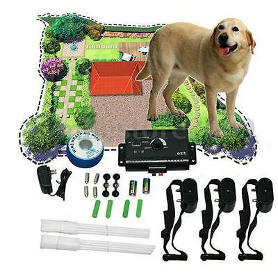 For 3 Dog Waterproof Underground Shock Collar Dog Electric Fence Fencing System