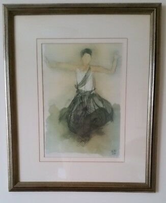 "Framed Drawing of a woman by ""M.R"" (43cm x 52cm)"