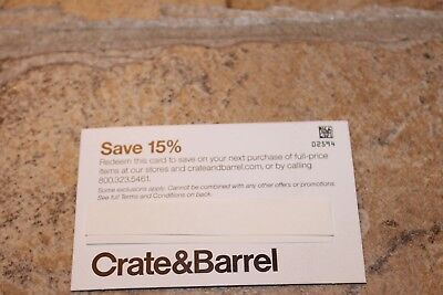Crate & Barrel 15% Off Coupon Online or In Store Includes Furniture