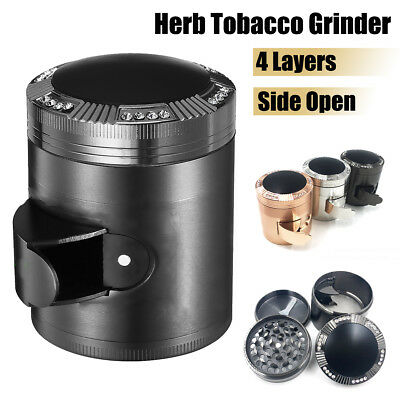 Big Tobacco Herb Spice Grinder 4 Piece Herbal Alloy Smoke Crusher Hand Muller !