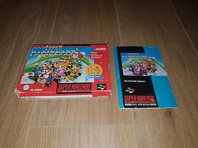 Super Mario Kart Box and Manual Only.