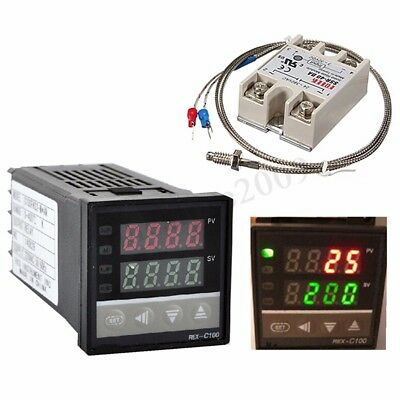Digital LED PID Temperature Controller Kits Thermocouple AC 110V-240V  new !
