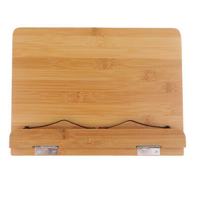 Portable Bamboo Book Stand Adjustable Document Stand Holder Wooden Bookrest