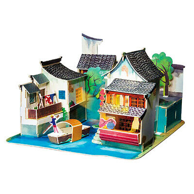 Miniature DIY Wooden Doll House Kit Handmade Mini Home Model Kids Puzzle Toy