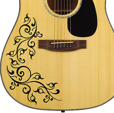 Pro Acoustic Swirl Decal Sticker Customise All Guitars Basses 24 Colour Options