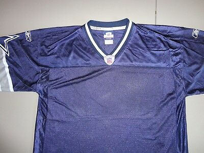 Blue Blank NFL Reebok Authentic Dallas Cowboys Screen Football Jersey Mens L 1bb34c625