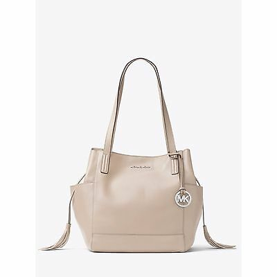 41689e4b29a5 MICHAEL KORS ASHBURY Large Pebble Leather Shoulder Bag (Cement Grey ...