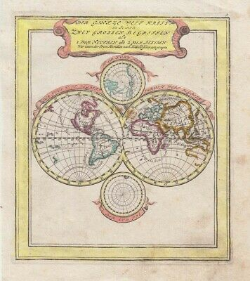 1704 Fine Bodenehr Map of the World - California as an Island