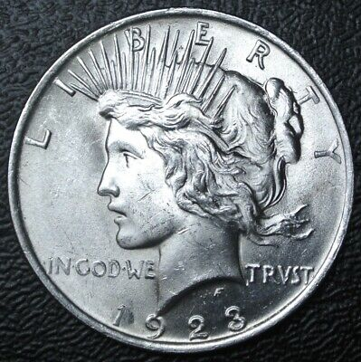 1923 USA -$1 DOLLAR - .900 SILVER - Peace Dollar - Nice LUSTRE & High Grade