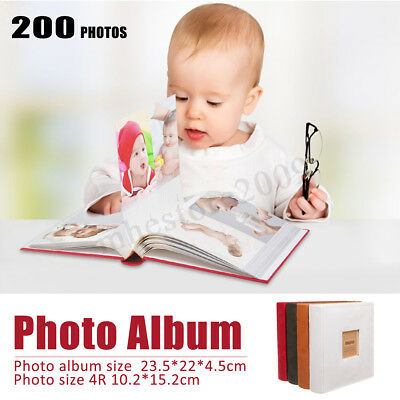Large 6''x4'' Holds 200 Photos Slip In Memo Photo Album Family Memory  !