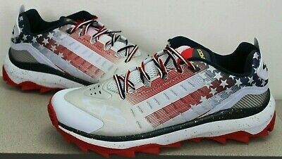 a7d1396edfa NEW Boombah Men s Catalyst Flag Turf Shoes Size 10.5 USA Red White Blue