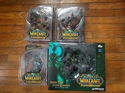 Rare DC Unlimited World of Warcraft Series 6 Lot Figures with Illidan figure US