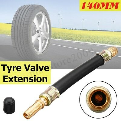 Clamps Tire Valve Extension Adaptor,DRU 4X 140mm Flexible Tyre Valve Extension Tire Wheel Bus Truck Transit Adaptor