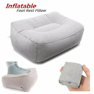 Travel Home Inflatable Soft Foot Rest Portable Pad Footrest Pillow Cushion
