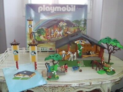 TBE Complet Playmobil 3120 Centre equestre equitation cheval poney
