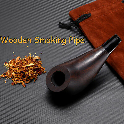 Durable Ebony Short Wooden Smoking Pipe Tobacco Herb Cigarettes Cigar Pipes