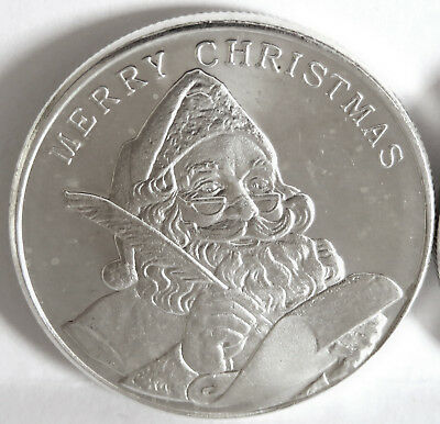 2005 Merry Christmas Santa Claus Quill Feather Pen .999 Fine Silver 1 Troy Oz