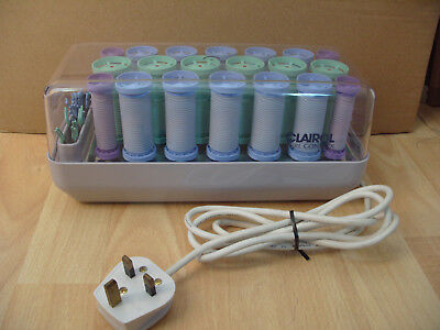 Clairol Curl Control 20 Heated Hair Rollers +  Pins Rare c418