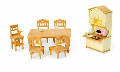 CALICO CRITTERS DINING Room Set Furniture Kitchen Playset Accessories Kids  Child