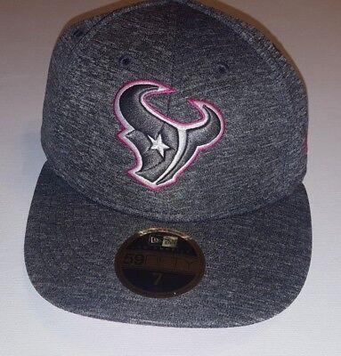 New Era 59Fifty NFL16 BCA Houston Texans Gray Fitted Breast Cancer Awareness  Hat 4cf200444