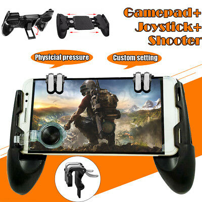 3 in 1 Mobile Gaming Gamepad Joystick +Controller Trigger + Fire Button For  !