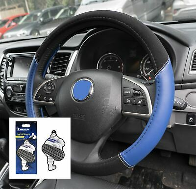 Blue Leather Look Stitched Steering Wheel Cover for Jeep Patriot 07-11