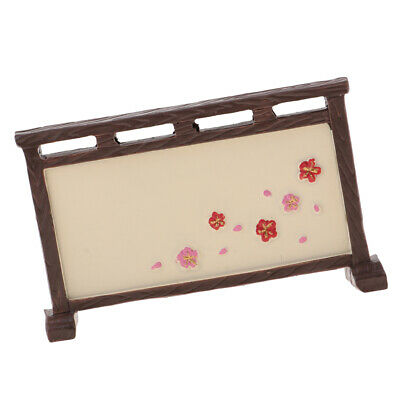 Delicated 1/12 Dollhouse Miniatures Creative Ornament Japanese Screen Toys
