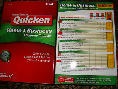 Intuit Quicken 2008 Home & Business For Windows (New!Factory sealed retail box)