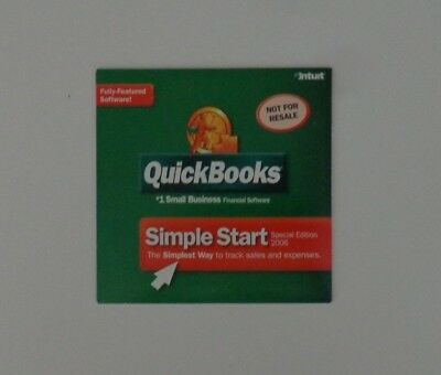 Quickbooks Simple Start 2006 Special Edition For Windows (New!Factory sealed)