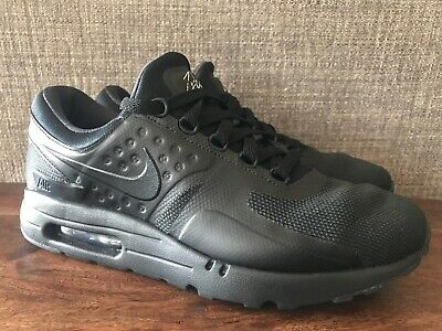 NIKE AIR MAX Zero Essential Running Shoes Triple Black Size 8.5 876070 006
