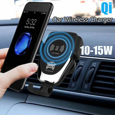 Qi Wireless Car Charger Magnetic Air Vent Mount Holder For Samsung iPhone X XR 8