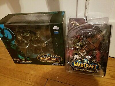DC Unlimited World of Warcraft figure Goblin Thinker and Illidan  US Seller