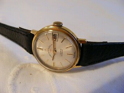 vintage ANGLO SWISS WATCH Co ladies hand wind date watch-working order