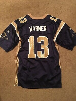 sale retailer e2886 cd547 KURT WARNER JERSEY St.Louis Rams Reebok NFL XL Mens Nice Shape