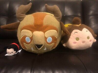 7e050f10635 Disney Store Exclusive Large Beauty And The Beast Medium Belle Tsum Tsum Set