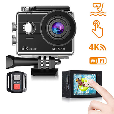 Action Camera 4K Waterproof Underwater Cameras WiFi 2 Inch Touch Screen Sports C