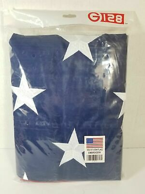 G128 - American USA US Flag 10x15 ft Deluxe Embroidered Stars Sewn Stripes Brass
