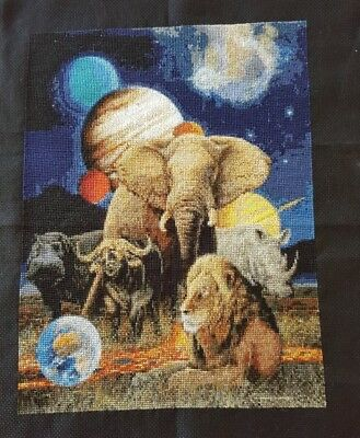 Africa completed cross-stitch (unframed)