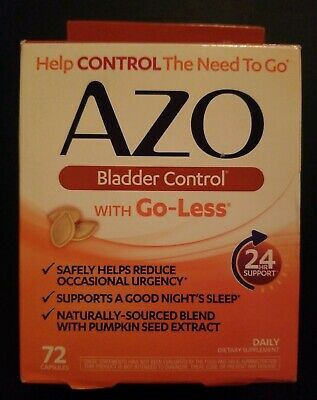 Azo Bladder Control >> Azo Bladder Control With Go Less 72 Capsules Exp 11 19 14 99