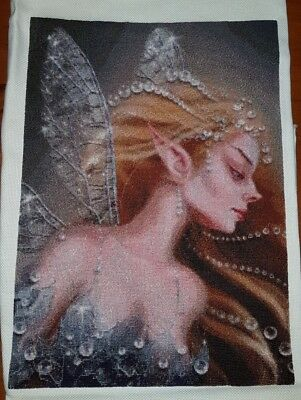 Gorgeous Fairy completed cross-stitch (unframed)