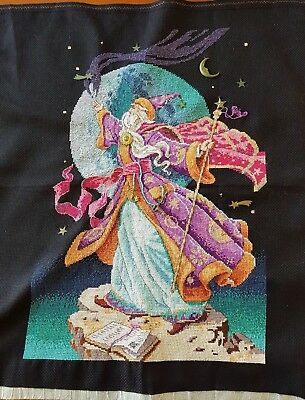 Wizard completed cross-stitch (unframed)