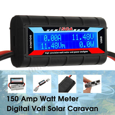 DC12V 0-150A LCD Digital Combo Panel Display Volt Amp Power Watt Meter