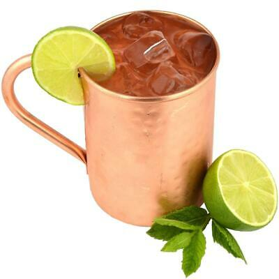 High Quality Original 100% Pure Moscow Mule Copper Mugs 16oz Solid Hammered Cups