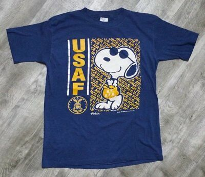 Vintage 90s Snoopy USAF Air Force T-Shirt size Small Jostens Joe Cool  Peanuts cb3e7cfce