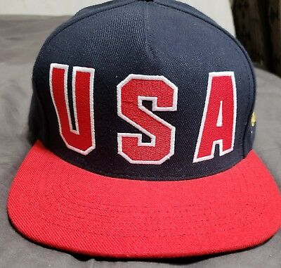 b8a0da00ed0 Supreme USA DREAM TEAM SNAPBACK HAT NAVY RED VISIONS OF GOLD BOX LOGO BOGO